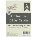 "Authentic Life Cards - 3"" x 4"" Classique Pretty"