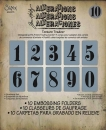 Tim Holtz Embossing Folders - Numbers Set<br>
