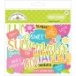 Preview: Doodlebug Chit Chat - Die Cuts - Sweet Summer (92 Stück)