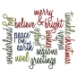 Preview: Sizzix Tim Holtz DIE Set - Holiday Words: Script