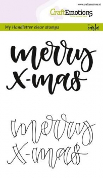 Craft Emotions Clear Stamps - Merry X-Mas