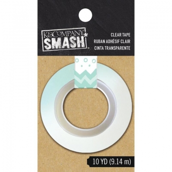 SMASH Blue Dots and Stripe Clear Tape