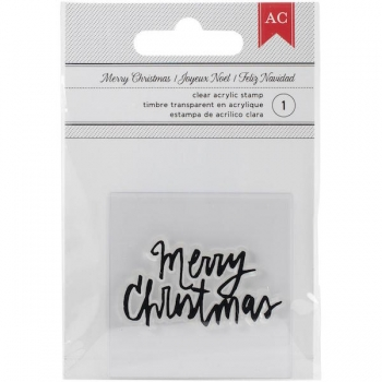 American Crafts Clear Stamp - Merry Christmas - Handgeschrieben