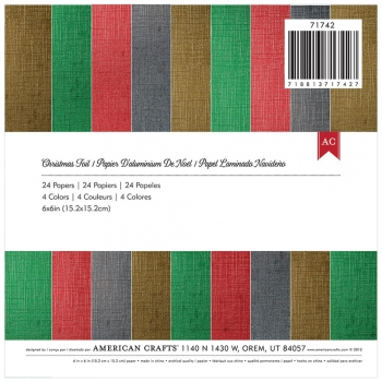 "American Crafts Christmas Foil Cardstock 6"" x 6"""