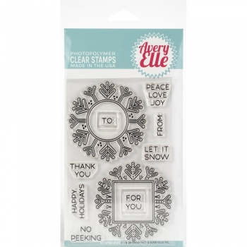 Avery Elle Clearstamps - Snow Tags