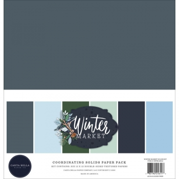 "Carta Bella - Coordinating Solid Paper Pack - 12"" x 12"" - Winter Market"
