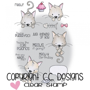 C.C. Design - Clearstamp Set - Meowy