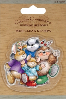 Country Companions Mini Clear Stamps - Group