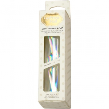 Go Press Heat Activated Foil - Iridescent Material Silver
