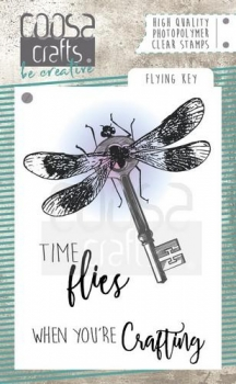 Coosa Crafts Clear Stamps - Flying Key