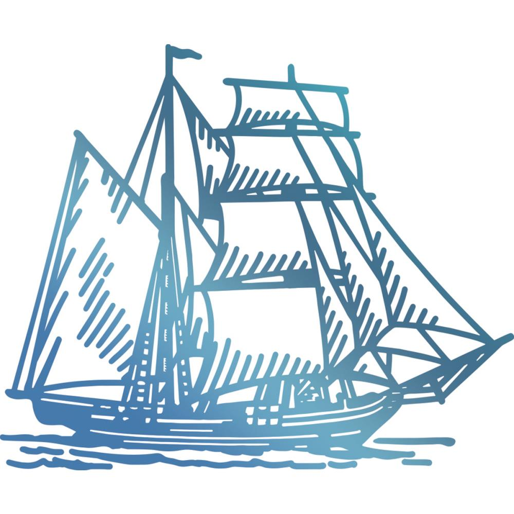 Couture Creations- Seaside and me Hotfoil Stamp Die - Tall Ship