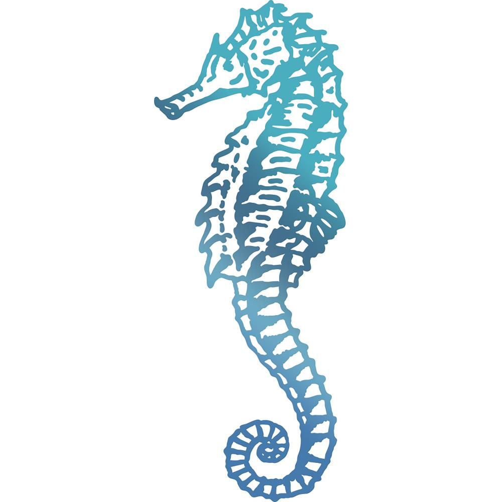Couture Creations- Seaside and me Hotfoil Stamp Die - Seahorse