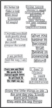 Dylusions Clear Stamps - Clearly Quotes