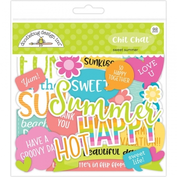 Doodlebug Chit Chat - Die Cuts - Sweet Summer (92 Stück)