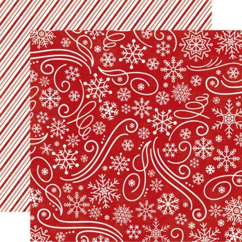 Echo Park - A Perfect Christmas - Snowflake Swirl 12""