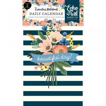 Echo Park Traveler`s Notebook Daily Calendar Insert - Fancy Floral