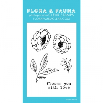 FLORA & FAUNA Clear Stamps - Mini Flower you with Love