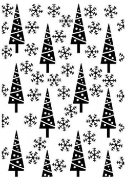 Hobby Solution Embossing Folder - Pine-Trees & Snowflakes