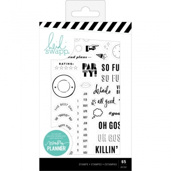 Heidi Swapp Clear Stamps - Color Fresh, Everyday 65 Stk.
