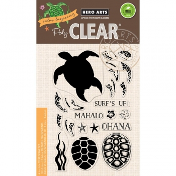 Hero Arts Clearstamps - Color Layering Sea Turtle