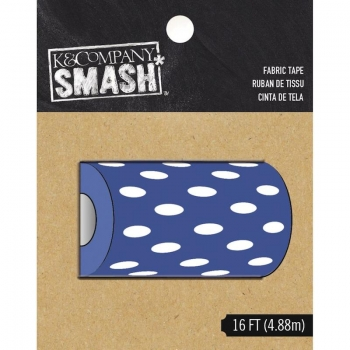 Smash Fabric Tape - Blue and White Dots