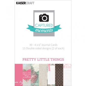 "Kaisercraft Captured Moments - 4"" x 6"" Journaling Cards - Pretty Little Things"