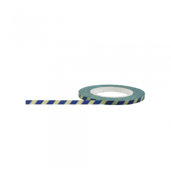 Little B Washi Tape SCHMAL - Blue & Antique Stripes
