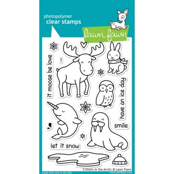 Lawn Fawn Clear Stamps - Critters in the Arctic
