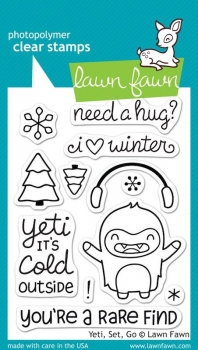 Lawn Fawn Clear Stamps - Yeti, Set, Go