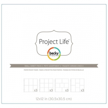 "Projekc Life - Photo Pocket Pages 12"" x 12"" - Small Variety Pack 4"