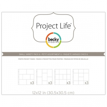 "Project Life - Photo Pocket Pages 12"" x 12"" - Small Variety Pack 6"