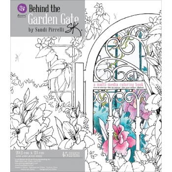 Prima Marketing Coloring Book - Garden Gate