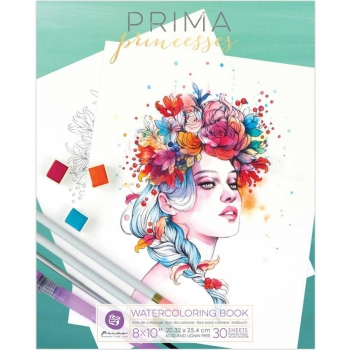 Prima Marketing Watercoloring Book - Princesses