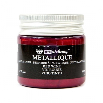 Prima Marketing Acrylic Paint - Metallique Red Wine