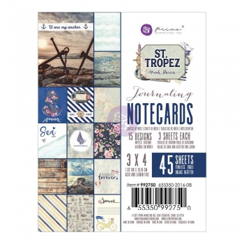 "Prima Maketing 3"" x 4"" Journaling Notecards - St. Tropez"