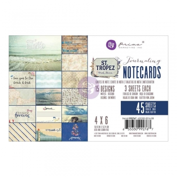 "Prima Maketing 4"" x 6"" Journaling Notecards - St. Tropez"