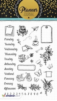 Studio Light Clear Stamps - A5 Planner Journal - Nr.05