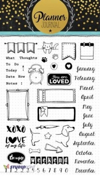 Studio Light Clear Stamps - A5 Planner Journal - Nr.06