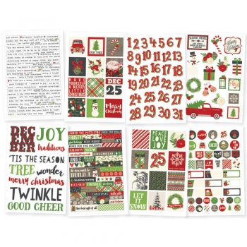 "Simple Stories Stickers - Verry Merry 4"" x 6"""