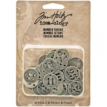 Tim Holtz - Number Tokens