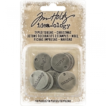 Tim Holtz Typed Tokens - Christmas