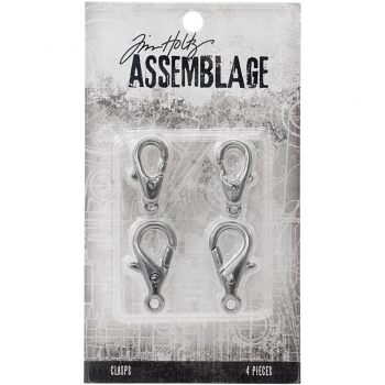 Tim Holtz Assemblage - Large Silver Lobster Claws