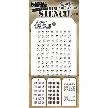 Tim Holtz Mini Layering Stencil Collection - Set 33