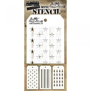 Tim Holtz Mini Layering Stencil Collection - Set 37