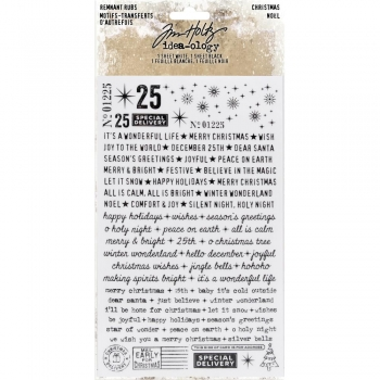 Tim Holtz Remnant Rubs - Christmas