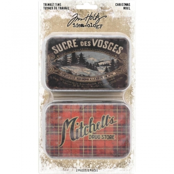 Tim Holtz Trinket Tins - Christmas