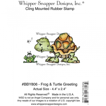 Whipper Snapper Cling - Frog & Turtle Greeting