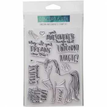 Concord & 9TH - Unicorn Awesomeness Stamp Set
