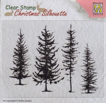 Nellies Choice Clearstamp - Pine Trees