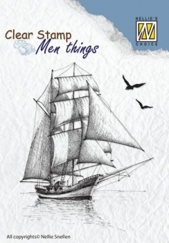 Nellie`s Choice Clearstamp - Men things - Sailingboat